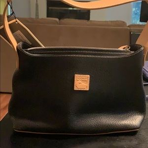 NWT Black and Tan leather Dooney and Bourke purse
